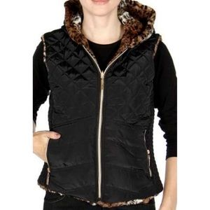 Jackets & Blazers - Quilted reversible vest